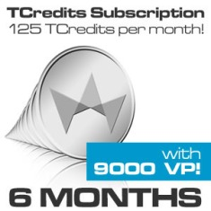 TCredits 125-Pack Subscription (6 month subscription)
